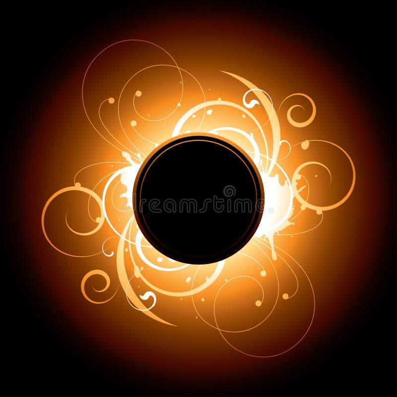 Disegno di turbinio del chiarore solare illustrazione vettoriale