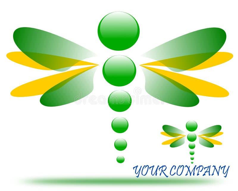 Disegno di un logo della società della libellula royalty illustrazione gratis