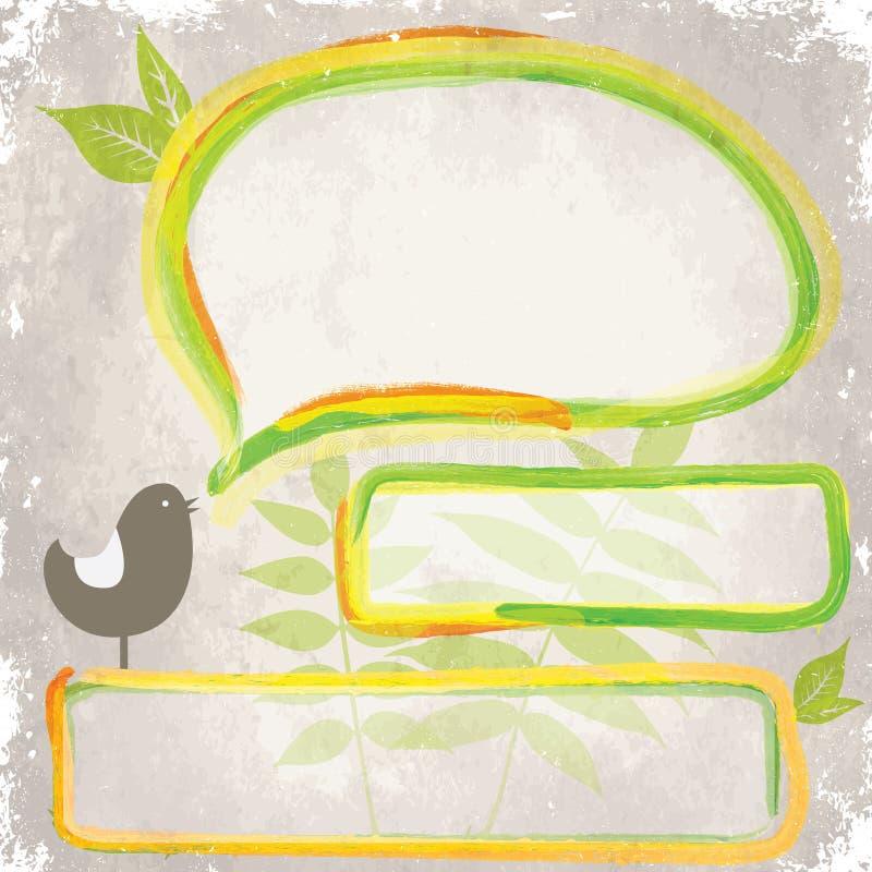 Disegno di verde di Grunge illustrazione vettoriale