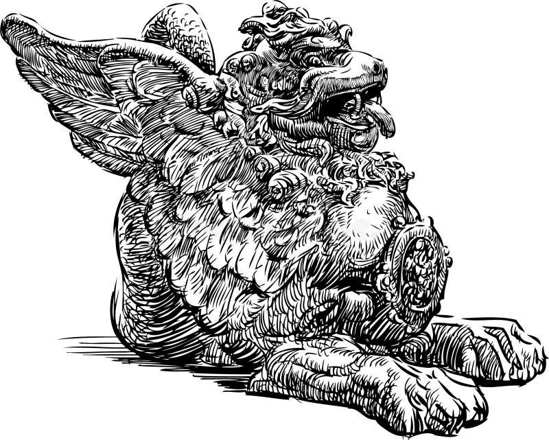 Drago cinese Mythical illustrazione di stock
