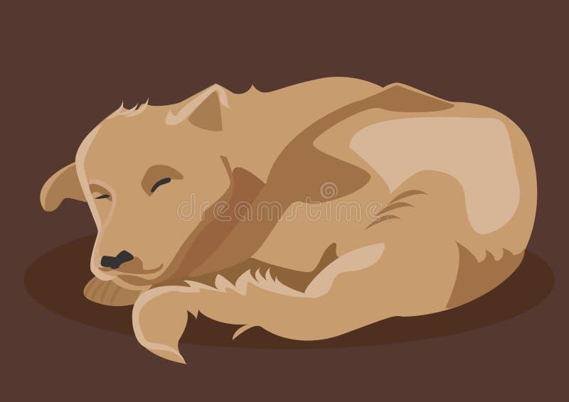 Sonno del cane di Brown royalty illustrazione gratis