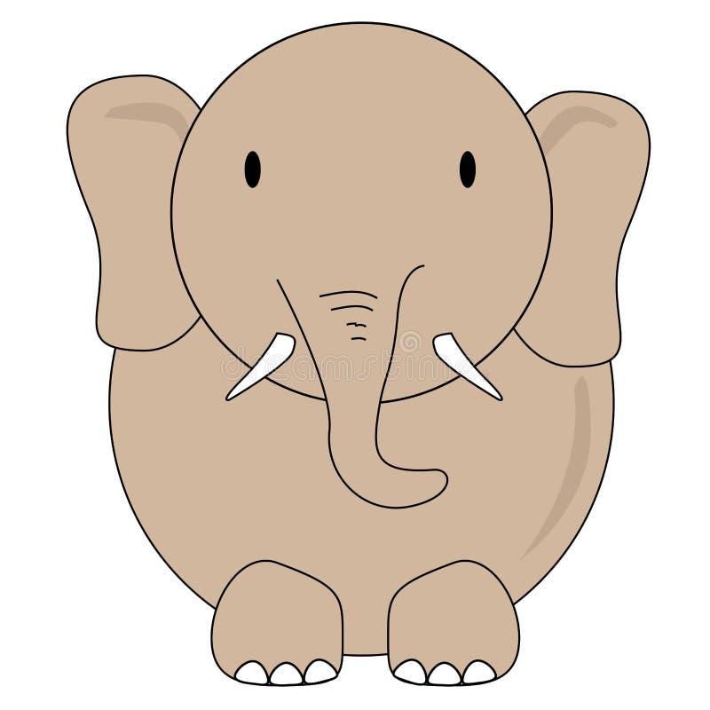 Disegno Di Vettore Dell Elefante Per I Bambini Illustrazione