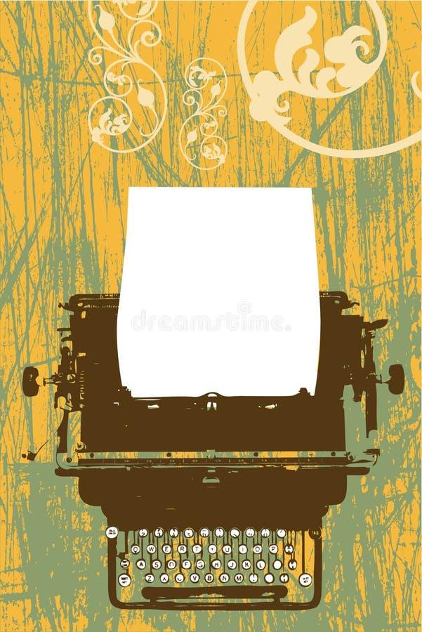 Disegno di vettore della macchina da scrivere illustrazione di stock