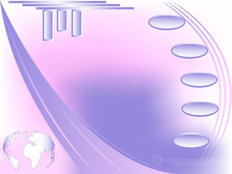 Disegno di Web futuristico con il globo. illustrazione di stock