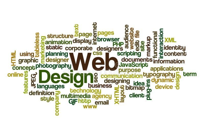 Disegno di Web - nube di parola illustrazione di stock