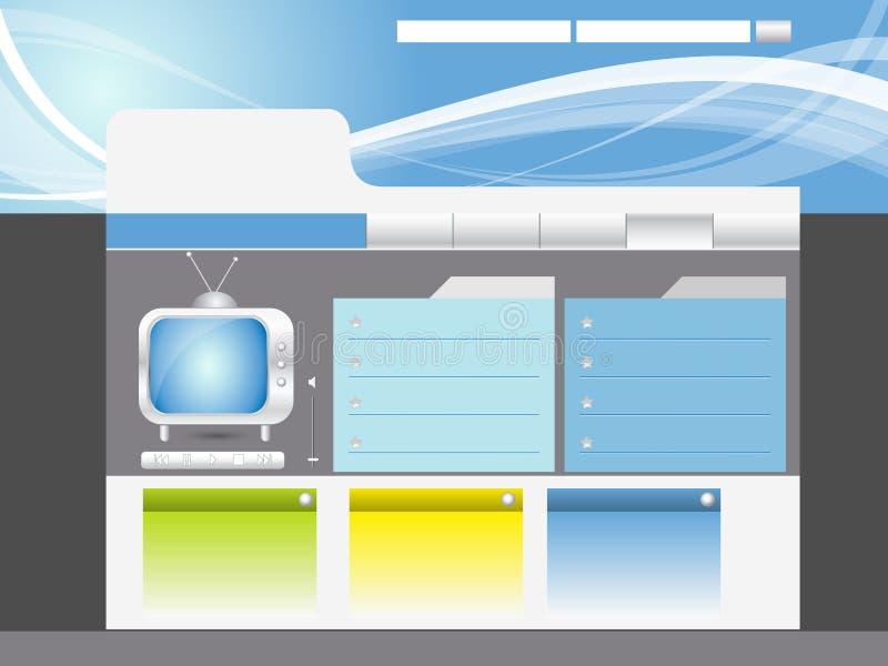 Disegno di Web site illustrazione vettoriale