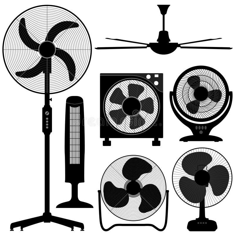 Disegno diritto del ventilatore di soffitto della Tabella royalty illustrazione gratis