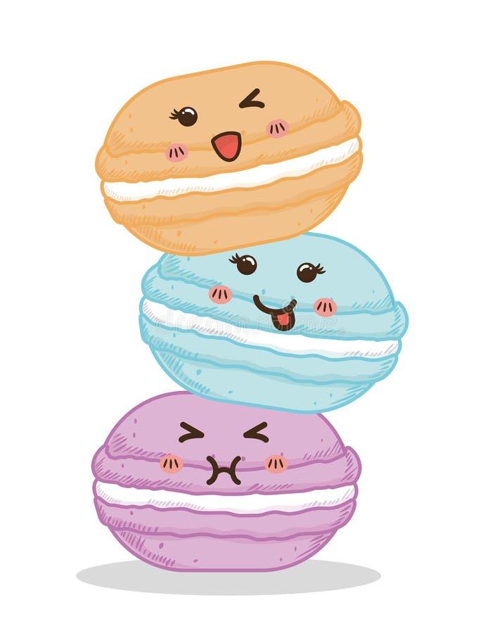 Disegno dolce Icona del dessert Illustrazione di Colorfull, grafico di vettore royalty illustrazione gratis
