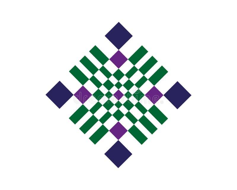 Disegno e sfondo di serie geometriche astratte con distintivo Utilizzo per design moderno, decorazioni, flyer, template e coperti illustrazione vettoriale