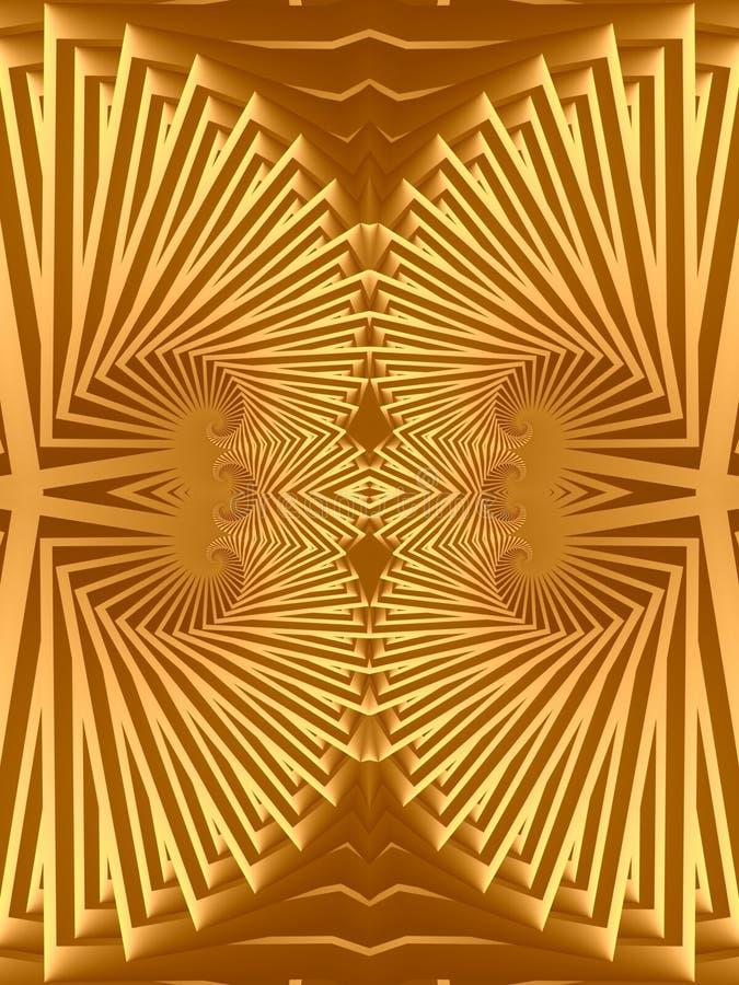 Progettazione Egiziana Dei Gioielli Dell'oro Immagine Stock Gratis