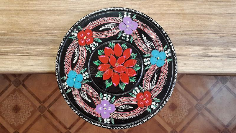 Disegno etnico floreale fotografie stock
