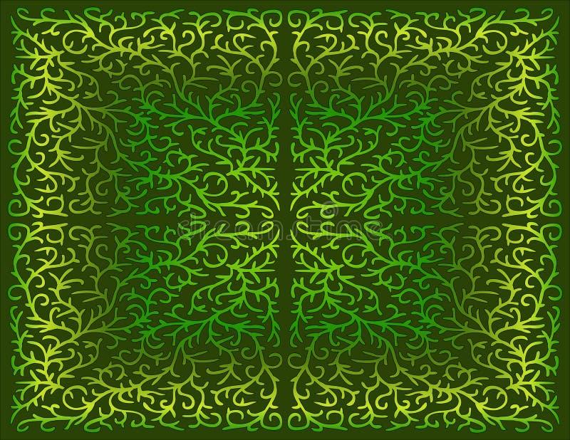 Disegno a filigrana in tonalità di verde illustrazione vettoriale