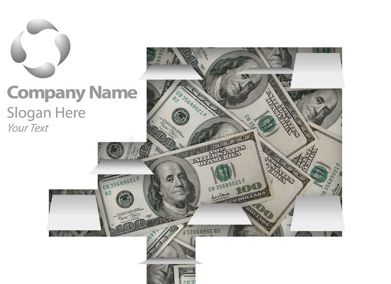 Disegno finanziario di Web page illustrazione vettoriale