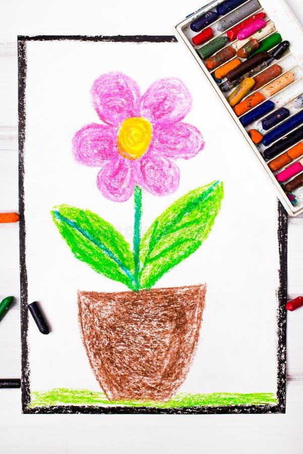 Disegno: fiore rosa illustrazione di stock