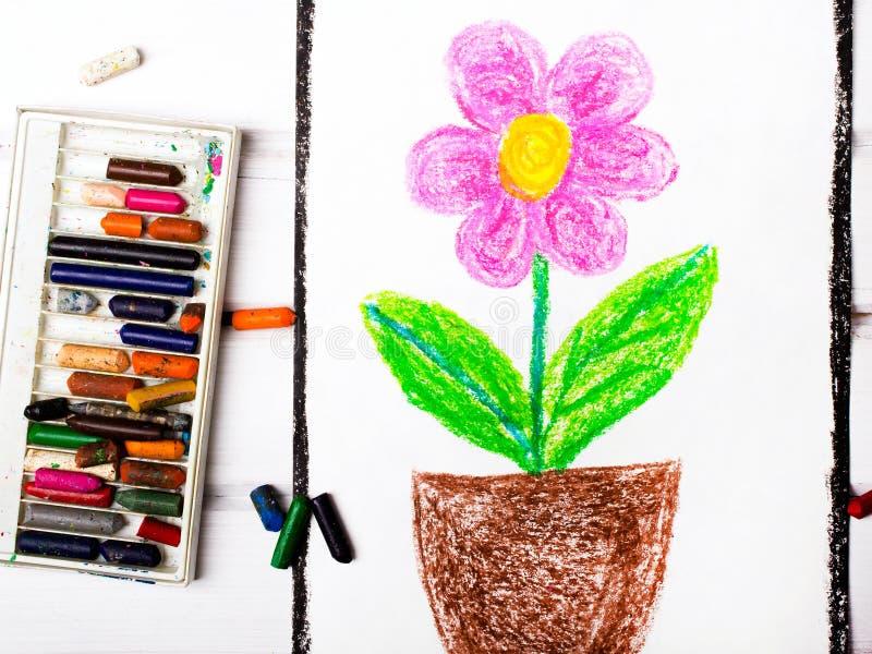 Disegno: fiore rosa immagine stock libera da diritti