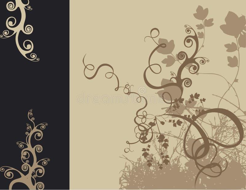 Disegno floreale illustrazione di stock