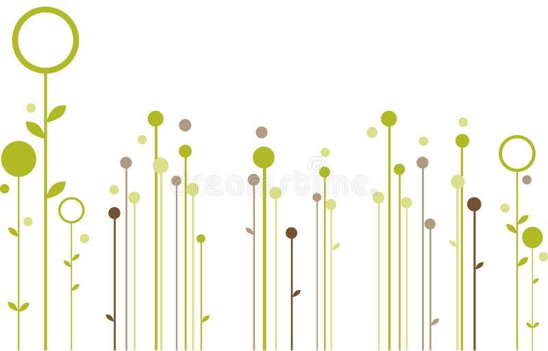 Disegno floreale astratto illustrazione di stock