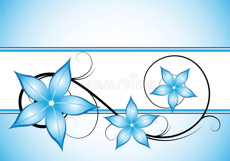 Disegno floreale blu di inverno illustrazione di stock