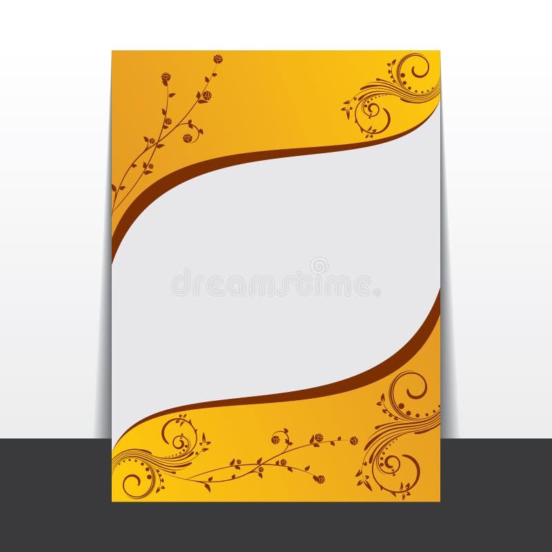 Disegno floreale creativo dell'opuscolo illustrazione vettoriale