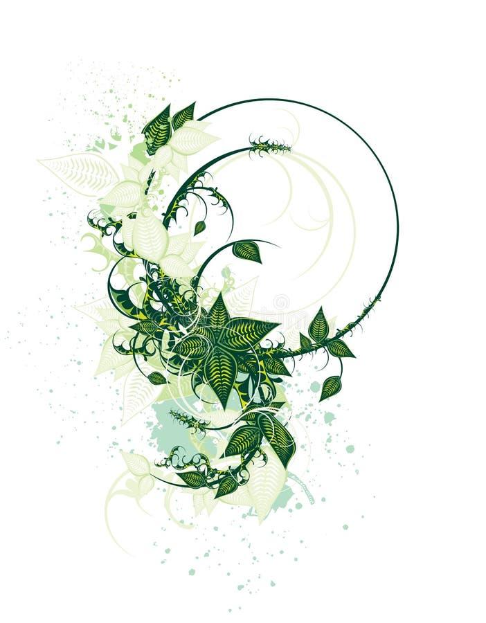 Disegno floreale decorativo del coperchio illustrazione vettoriale