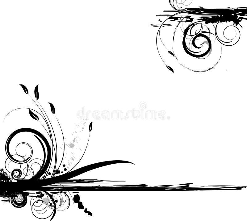 Disegno floreale del grunge illustrazione di stock