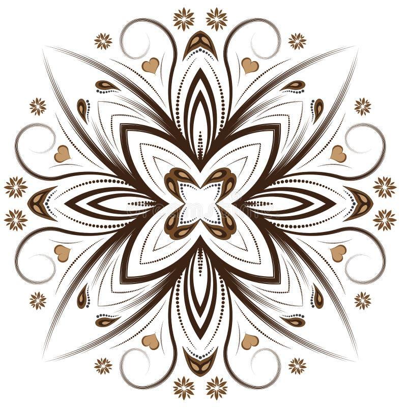 Download Disegno Floreale Di Vettore Astratto Illustrazione di Stock - Illustrazione di autunno, punto: 3137856