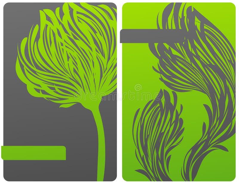 Disegno floreale ecologicamente di tema. illustrazione vettoriale