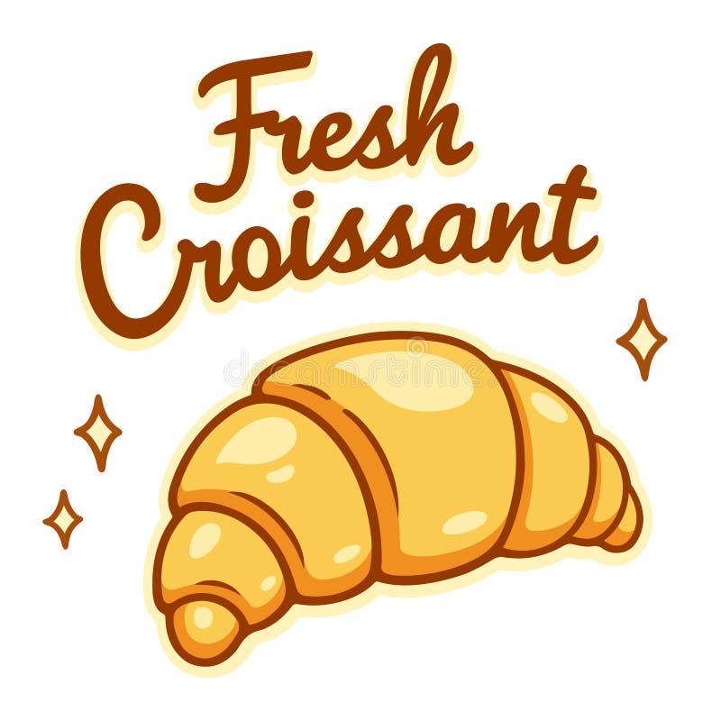 Disegno fresco del croissant illustrazione di stock