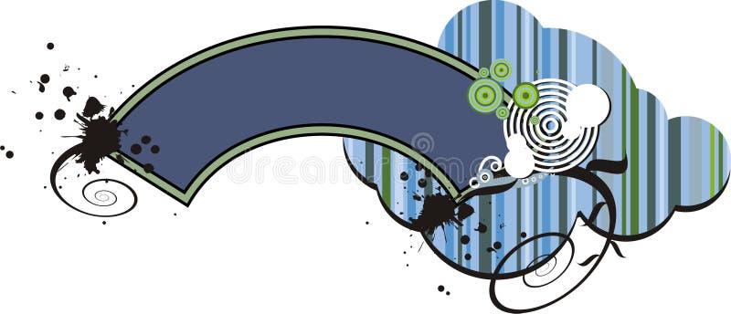 Disegno grafico blu della bandiera illustrazione vettoriale