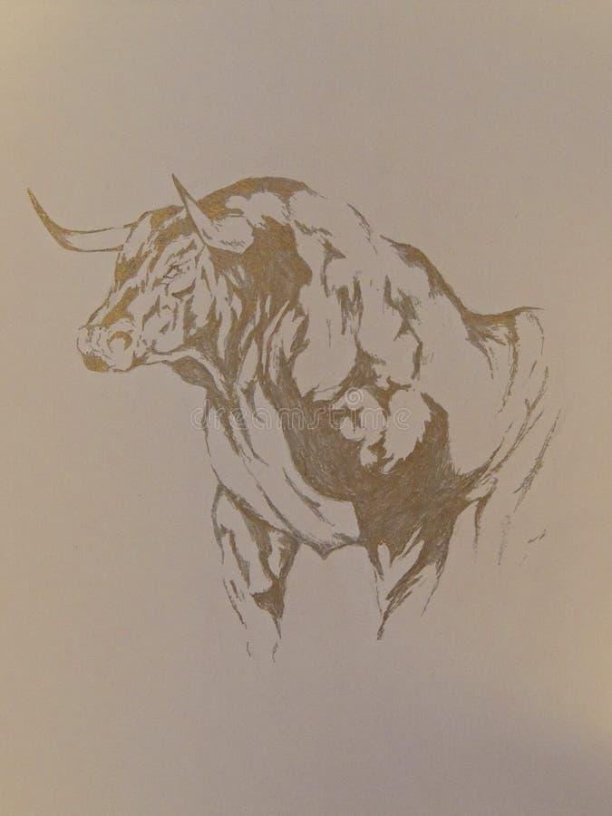 Disegno grafico del toro illustrazione di stock