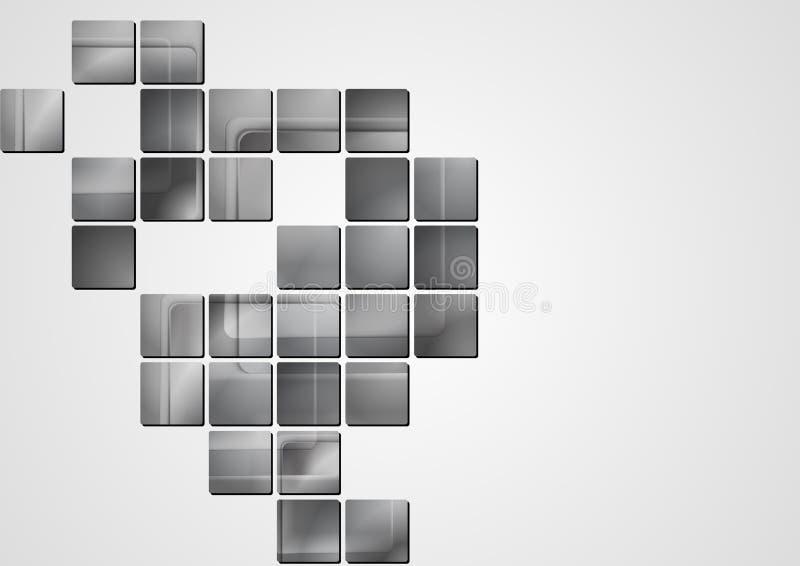 Disegno grigio astratto di vettore illustrazione vettoriale