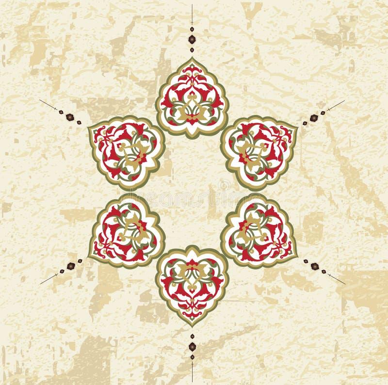 Disegno Grungy dell'ottomano royalty illustrazione gratis
