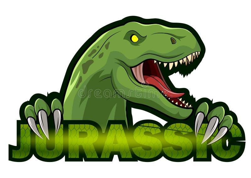 Disegno illustrativo del logo della mascotte di Dinosaur sport royalty illustrazione gratis
