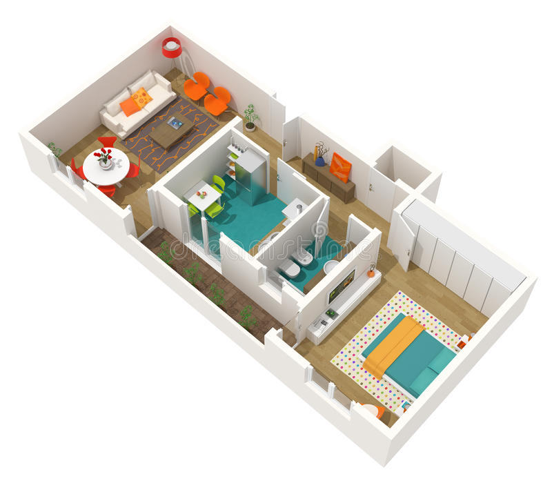 Disegno interno contemporaneo 3d si dirigono il progetto for Disegno casa interno