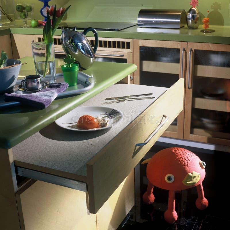 Disegno interno - cucina immagini stock