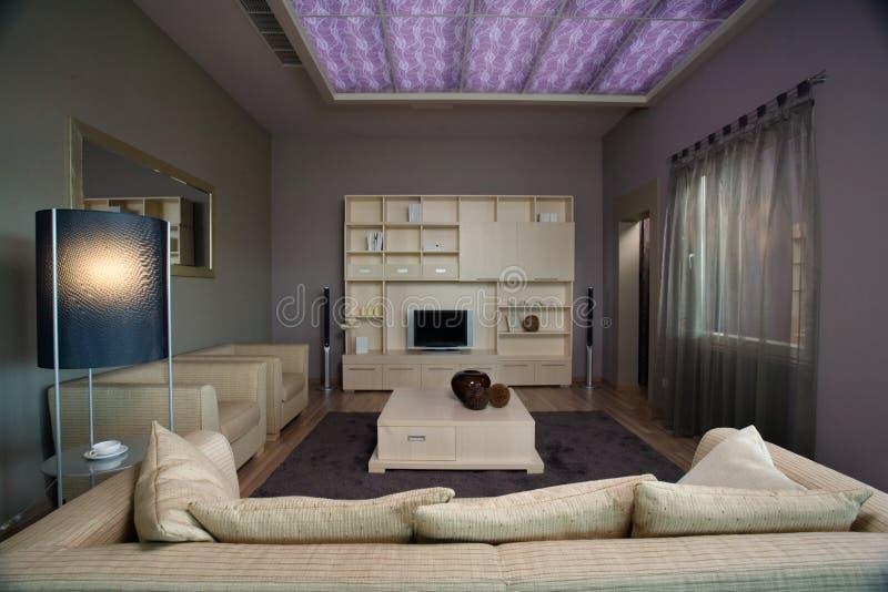 Disegno interno del salone elegante e di lusso. fotografia stock libera da diritti