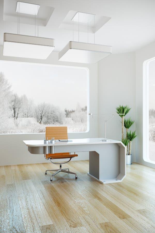 Disegno interno dell'ufficio moderno illustrazione vettoriale