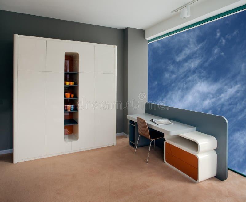 Disegno interno della bella e giovane stanza moderna. fotografia stock libera da diritti