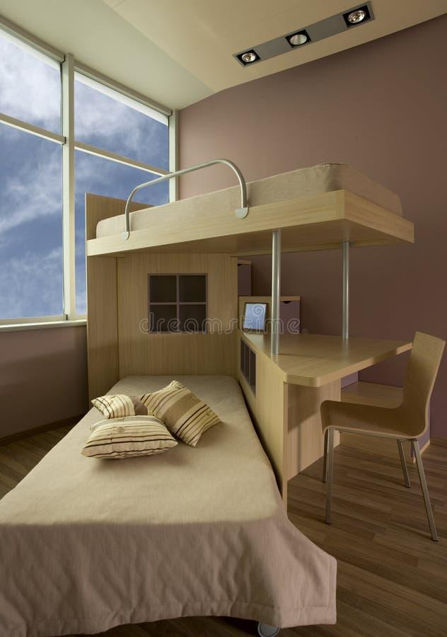 Disegno interno della bella e giovane stanza moderna. fotografie stock