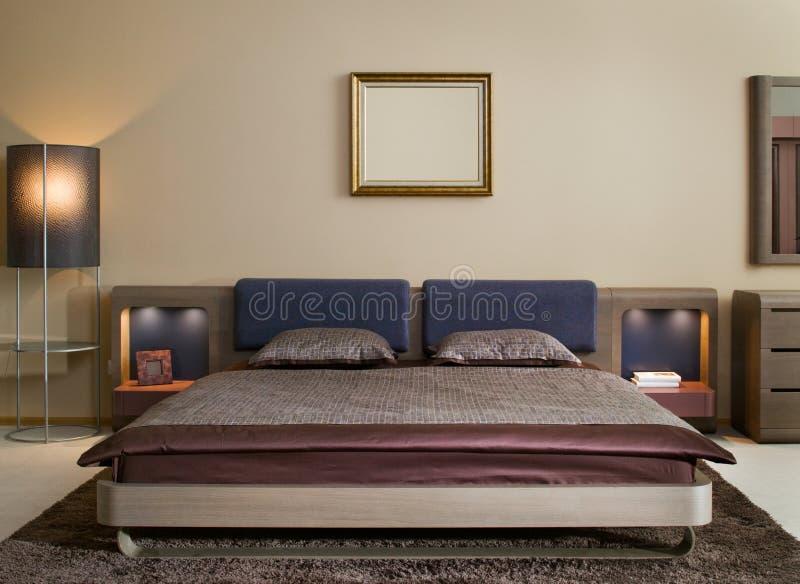Disegno interno della camera da letto. Elegante e di lusso. fotografie stock
