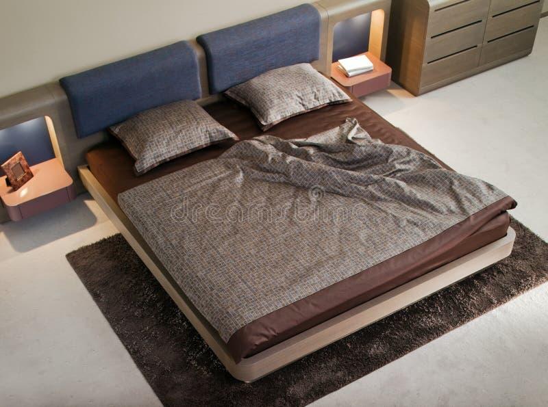 Disegno interno della camera da letto elegante e di lusso. fotografie stock libere da diritti