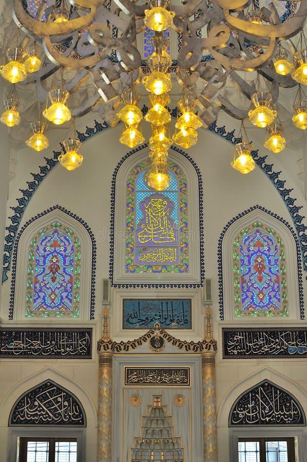 Disegno interno della moschea turca fotografia stock libera da diritti