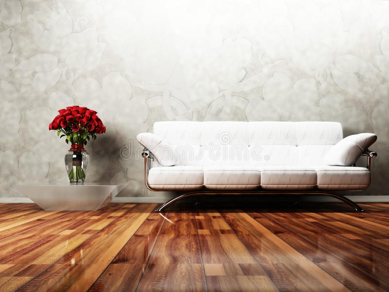 Disegno interno moderno del salone royalty illustrazione gratis