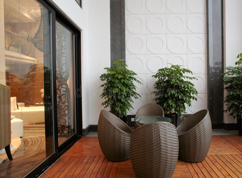 Disegno interno moderno - salone immagini stock