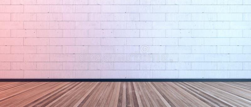 Disegno interno moderno, stanza vuota fotografie stock