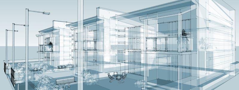 Costruzione lineare di immagine illustrazione di stock for Disegni della casa della cabina di ceppo