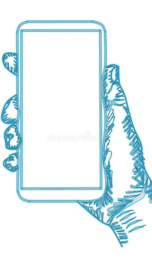 Disegno mobile Ritiro mobile a mano creativa illustrazione di stock