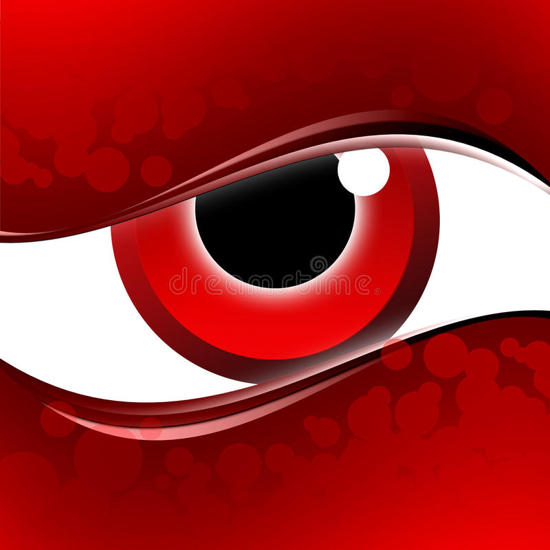 Disegno moderno dell'occhio rosso royalty illustrazione gratis