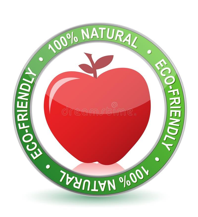 disegno naturale dell'illustrazione della guarnizione della mela di 100% illustrazione vettoriale