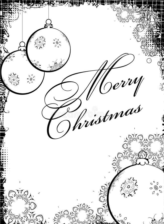 disegno Nero-bianco di Christmass illustrazione di stock